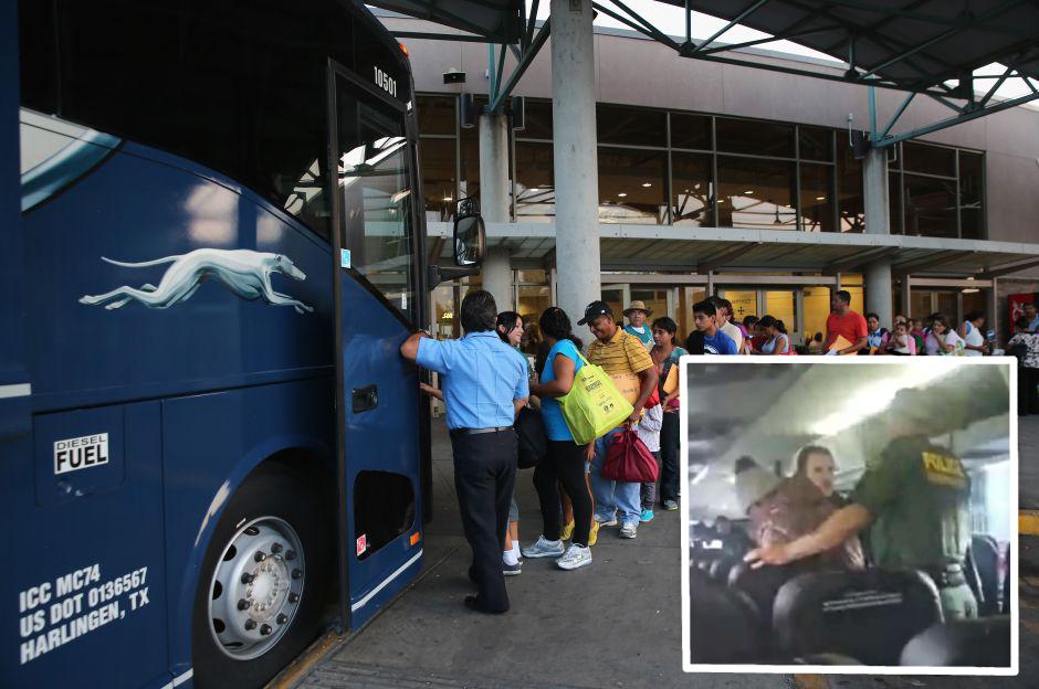 Varios detenciones de inmigrantes se han realizado en estos buses
