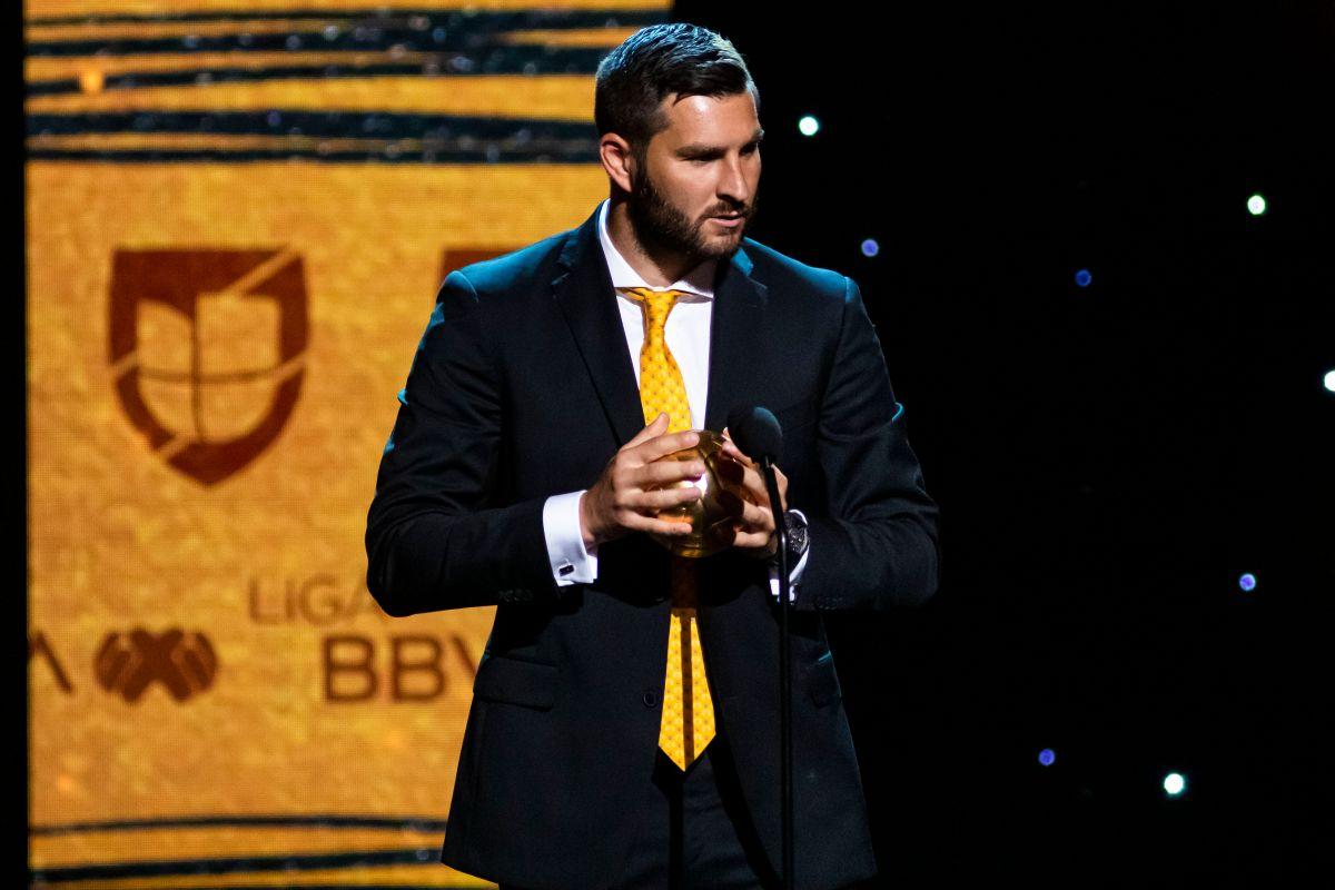 André Pierre Gignac durante la entrega del Balón de Oro 2019, a lo mejor de la Liga BBVA MX, celebrado en el Teatro United Artist.
