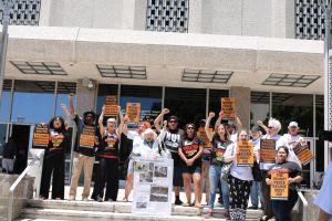 Grupo de manifestantes 'Freeway 9' son llevados a corte una vez más