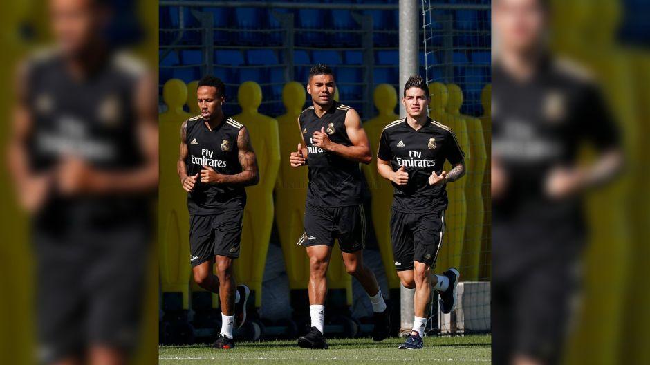 ¡James Rodríguez se queda! Ya entrena con el Real Madrid