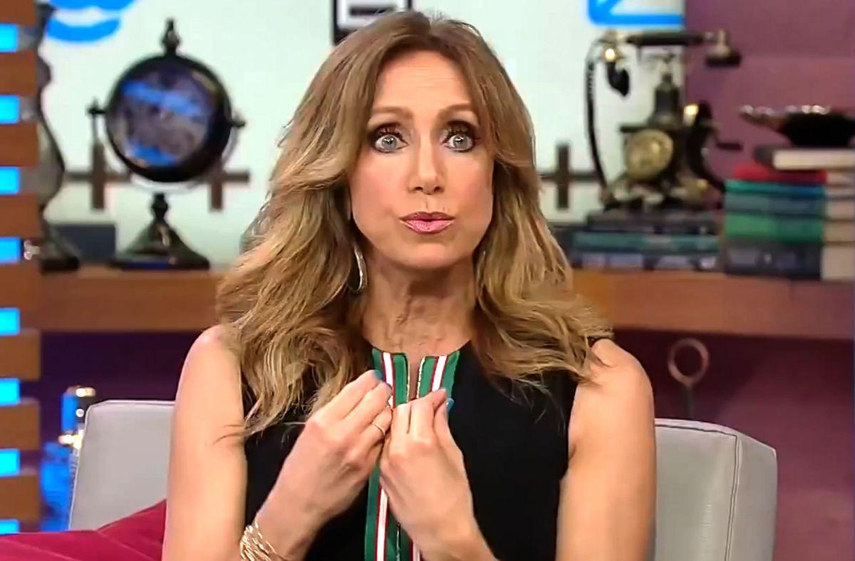 """Lili Estefan en """"El Gordo y La Flaca"""" de Univision."""