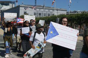 Puertorriqueños de San Francisco piden renuncia del gobernador Rosselló