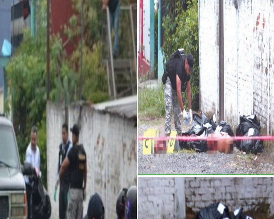 Narcos dejan descuartizados frente a parque donde había niños jugando