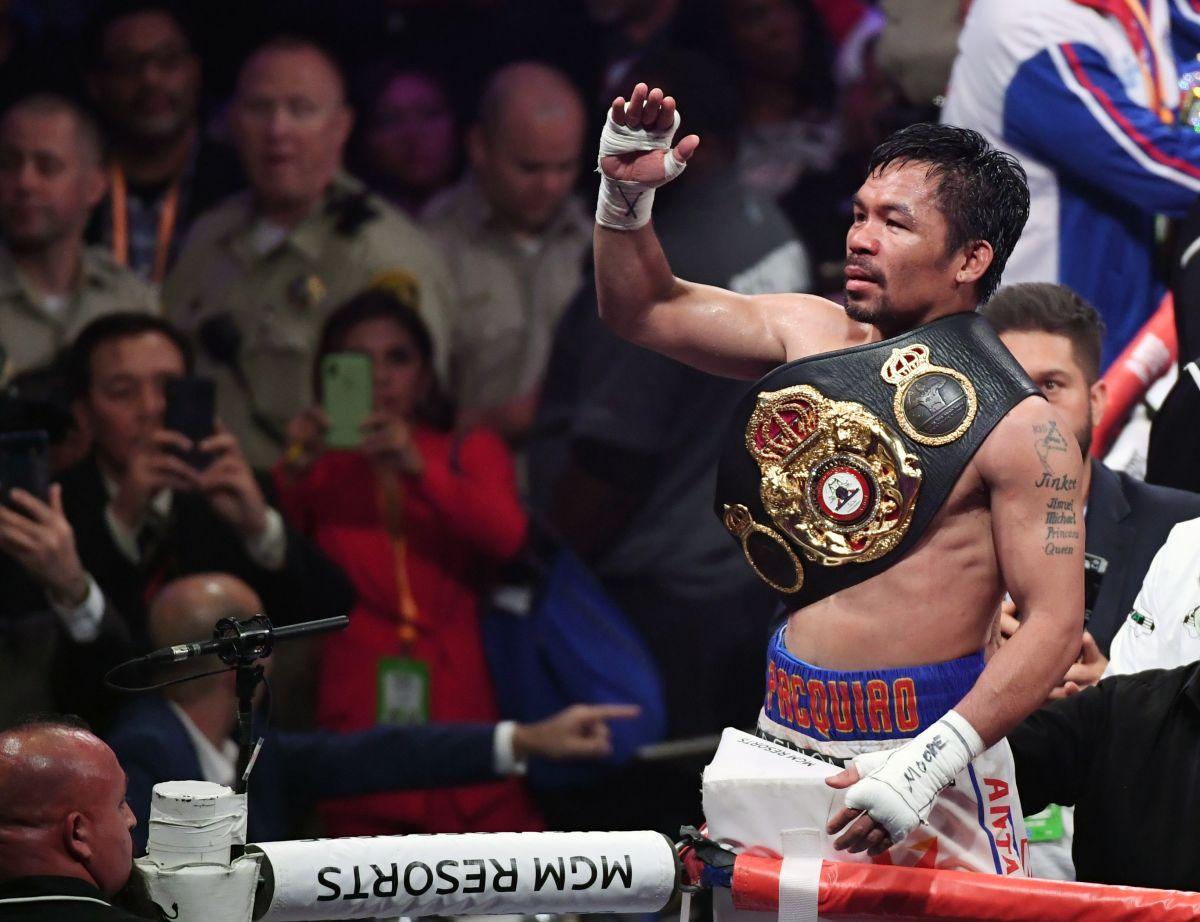 Pacquiao anunció una pelea a beneficio para el 2021, aunque no especificó rival.