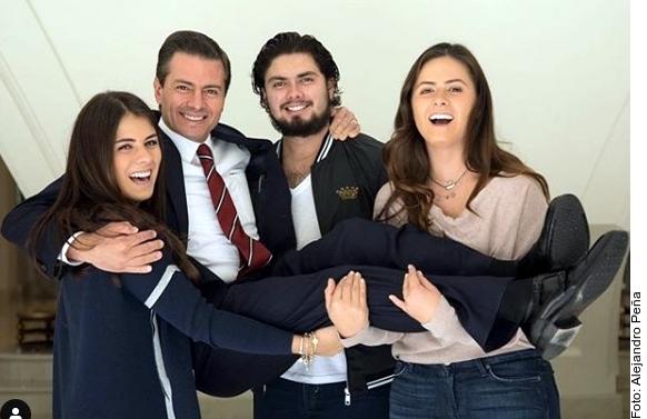 Peña Nieto recibe emotiva felicitación de sus hijos por su cumpleaños