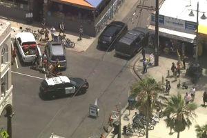 Persecución policial finalizó en Venice Beach cerca de cientos de turistas