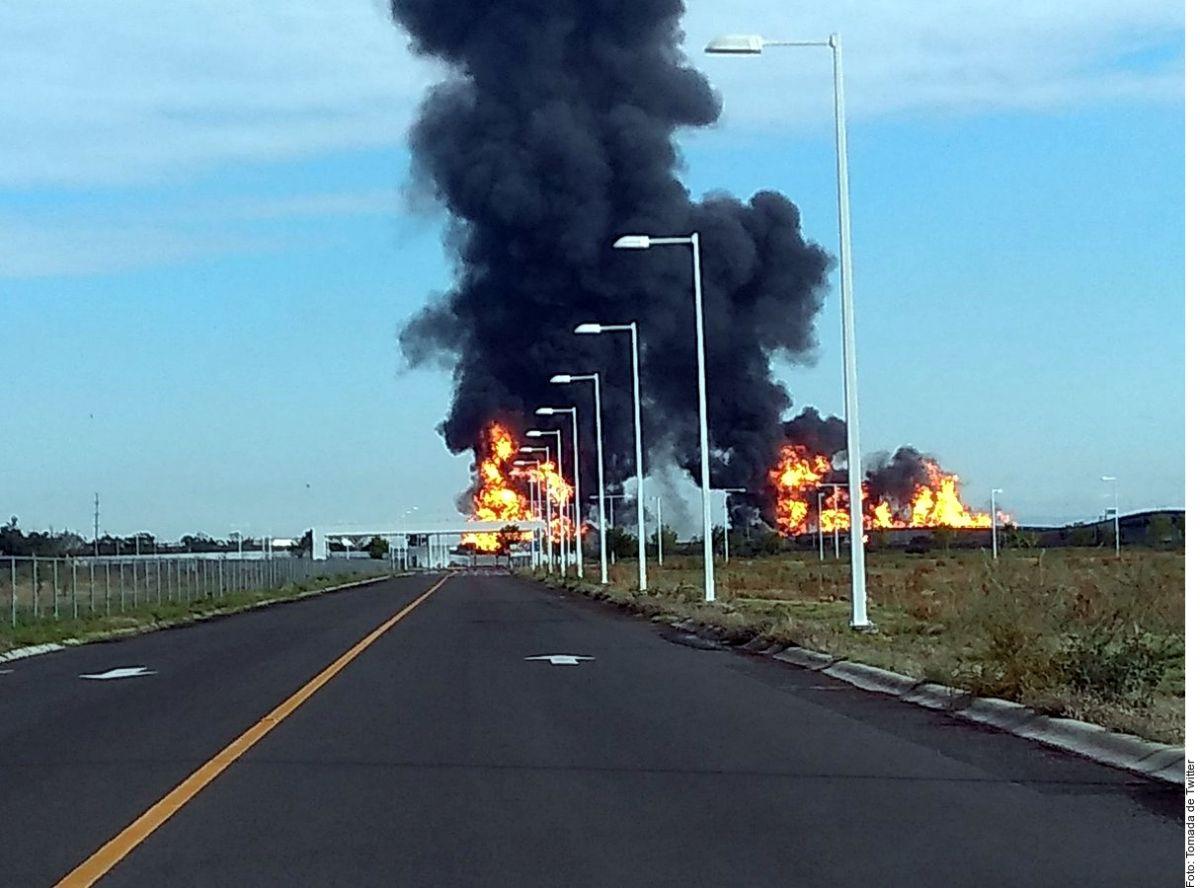 Explosión en ducto de Pemex, en Celaya, Guanajuato