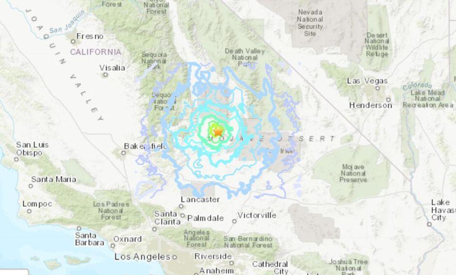 Temblor de magnitud 4.9 cerca de Ridgecrest se sintió esta mañana