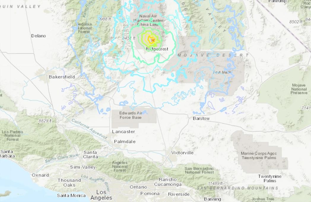 Fuerte réplica de terremoto se sintió en el sur de California este viernes