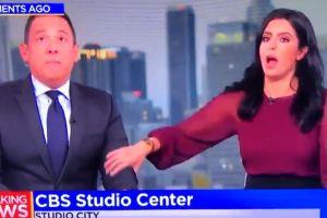 Video viral muestra el pánico de dos conductores de noticiero durante el terremoto de California