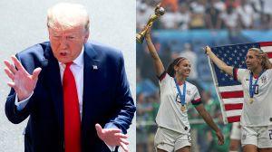 Trump felicita a USA pero no las invita a la Casa Blanca