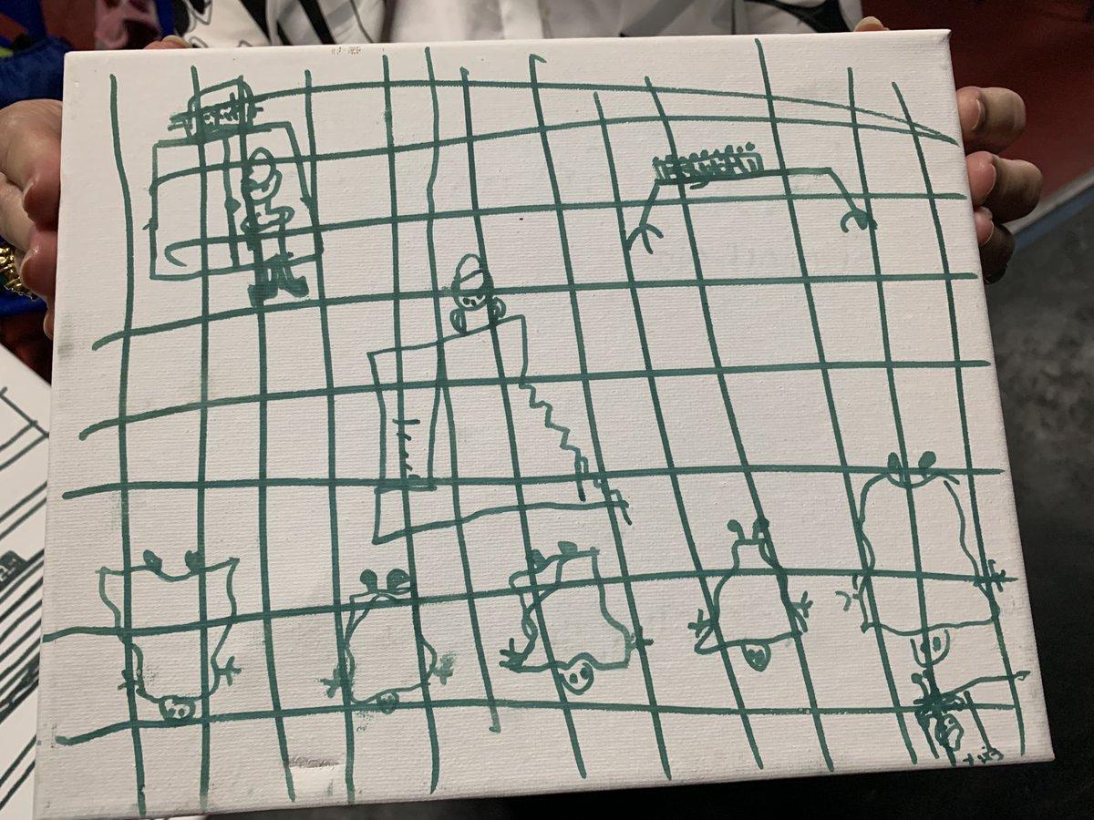 Los escalofriantes dibujos de niños inmigrantes detenidos que los muestran en jaulas