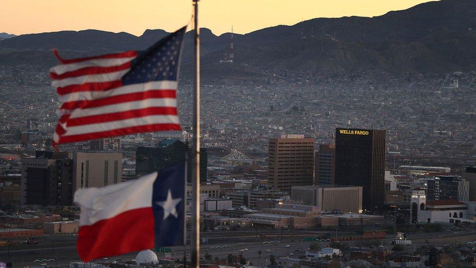 El Paso, Texas, es una de las principales ciudades en la frontera con México.
