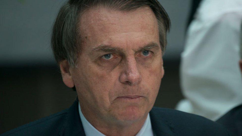 Bolsonaro ordenó enviar al ejército a las zonas afectadas por los fuegos.
