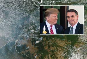 Trump ofrece ayuda a Brasil para apagar los incendios del Amazonas