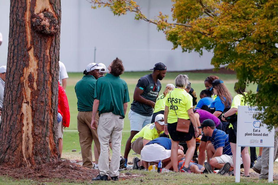 Video: Rayo cae en campo de golf  durante campeonato en Atlanta y deja seis heridos