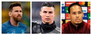 Los de siempre y un 'colado': Messi, Cristiano y van Dijk van por el Jugador del Año de la UEFA