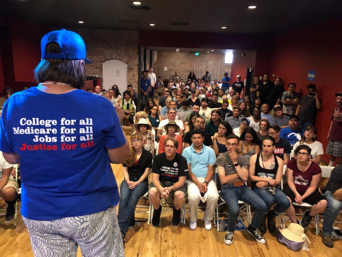 Crece el número de voluntarios que apoyan a Bernie en California