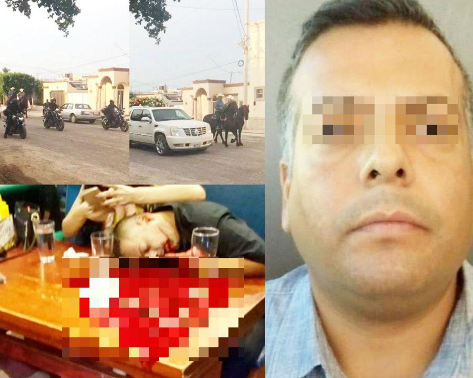 VIDEO: Con banda, cervezas, cabalgata y hasta policías, despiden a capo del narco asesinado