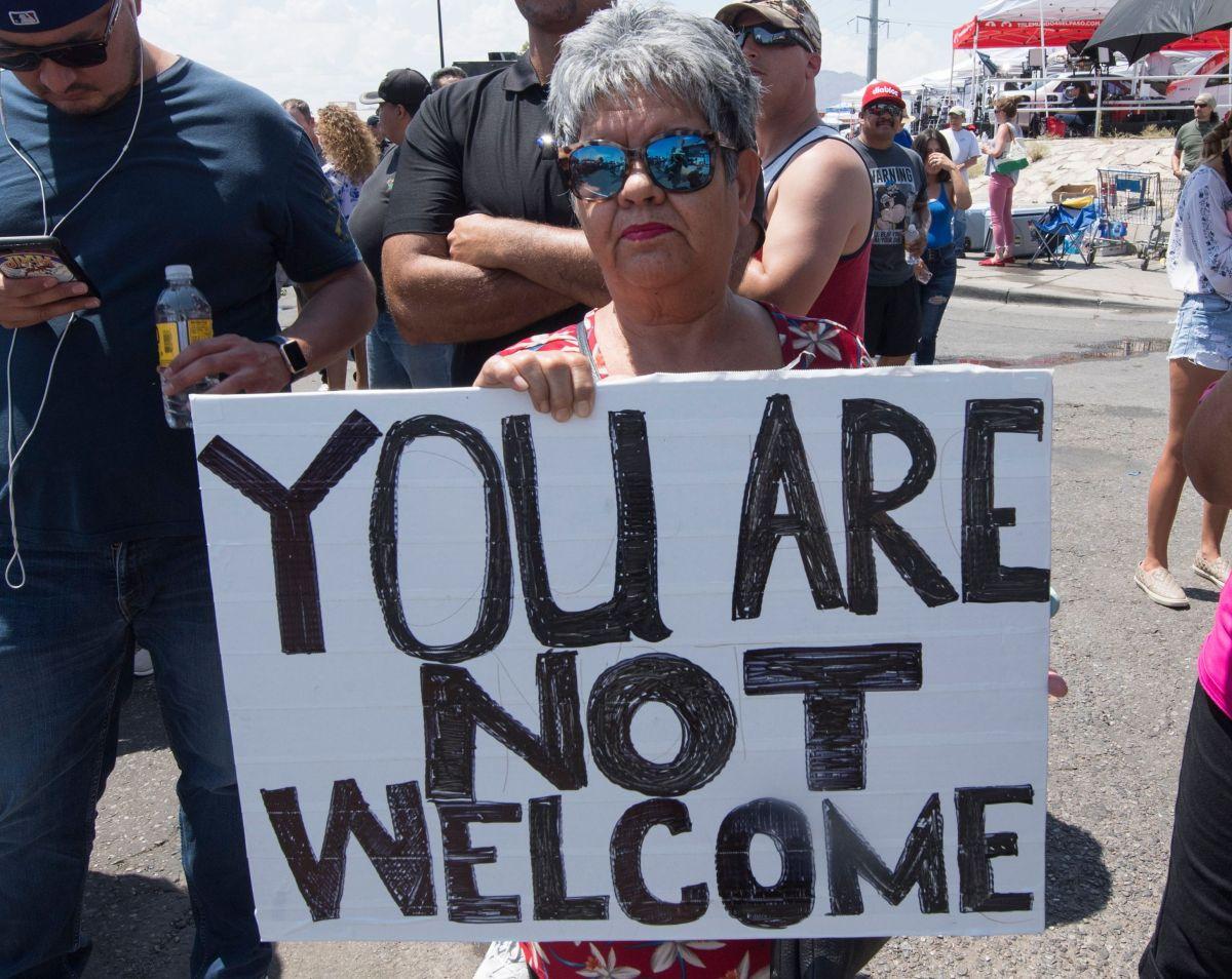 Trump fue recibido en El Paso con duras protestas
