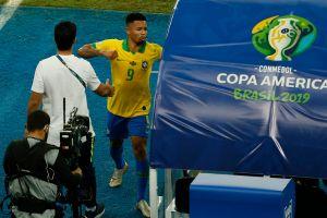 Similar al de Messi: Así es el castigo de Gabriel Jesús por su berrinche en la final de la Copa América