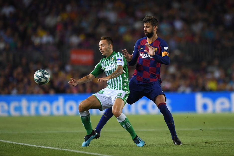 Gerard Piqué jugó hoy su partido 500 con Barcelona