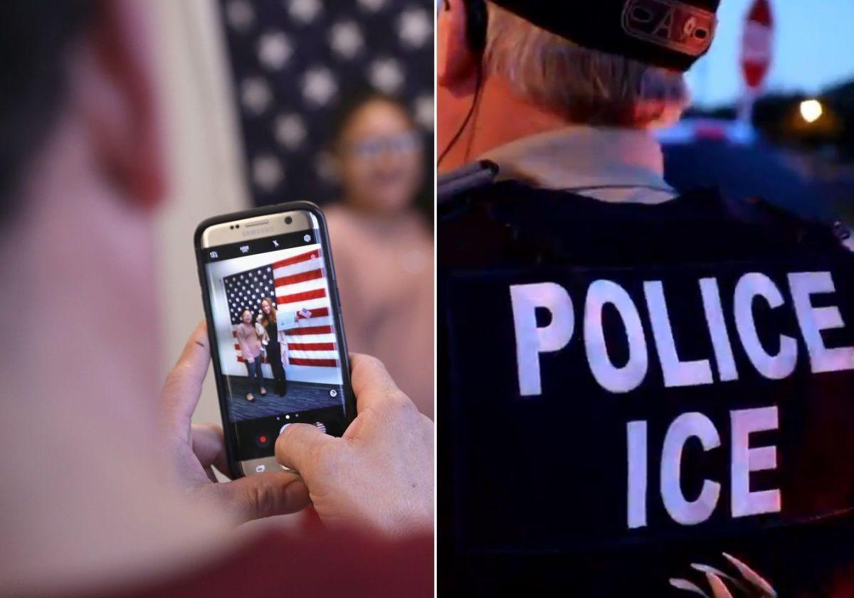 Los oficiales de ICE operan con libertad en oficinas de USCIS.