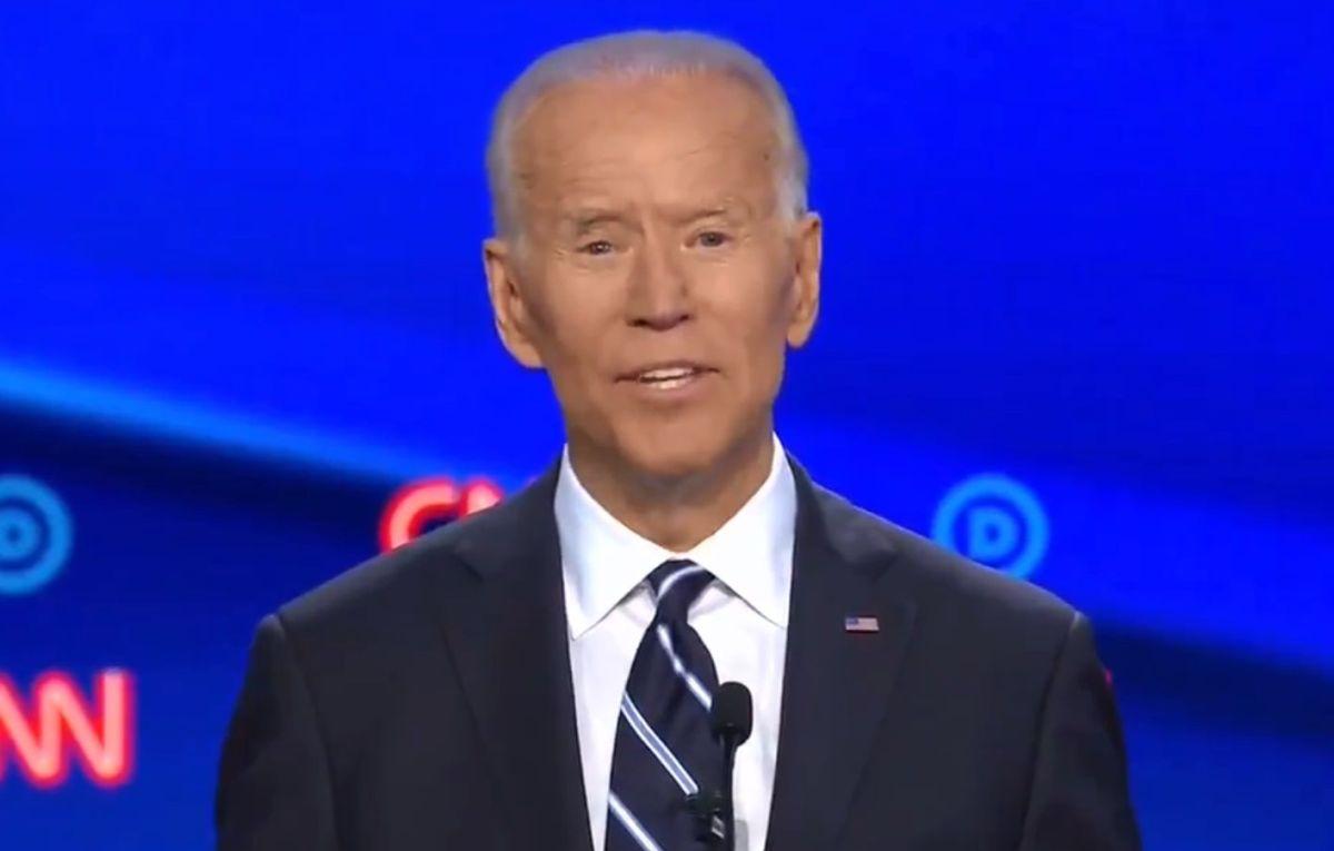 El exvicepresidente Biden desató confusión con su mensaje.