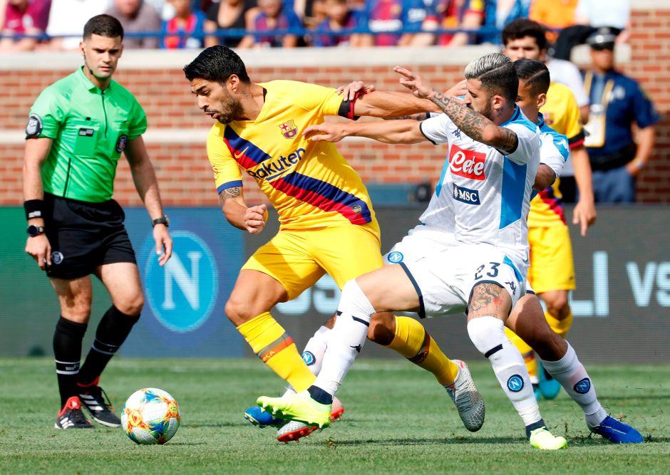 Y sin Messi: El Barça humilló al Napoli y está listo para la temporada