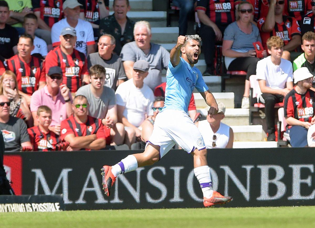 El 'Kun' Agüero anotó el gol número 400 de su carrera.
