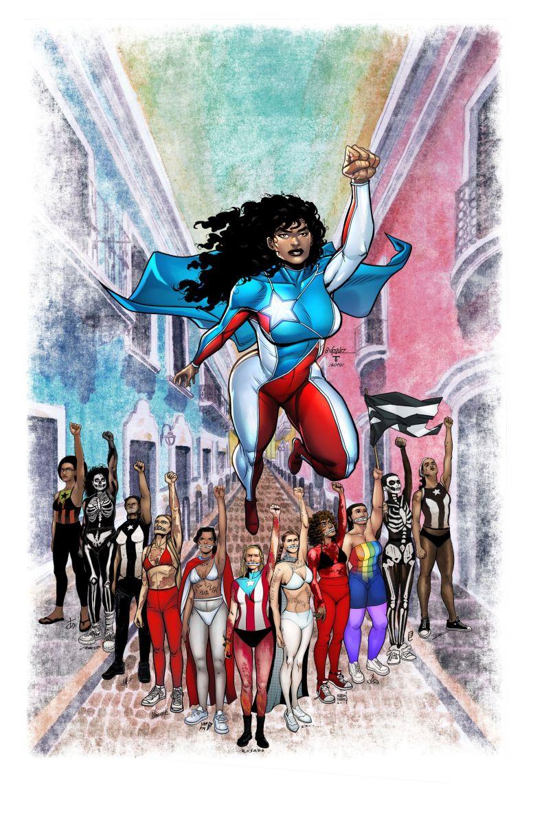 """La nueva versión de la """"La Borinqueña"""" que alude a la presencia de las mujeres en las protestas masivas que sacaron a Ricardo Rosselló de la gobernación."""