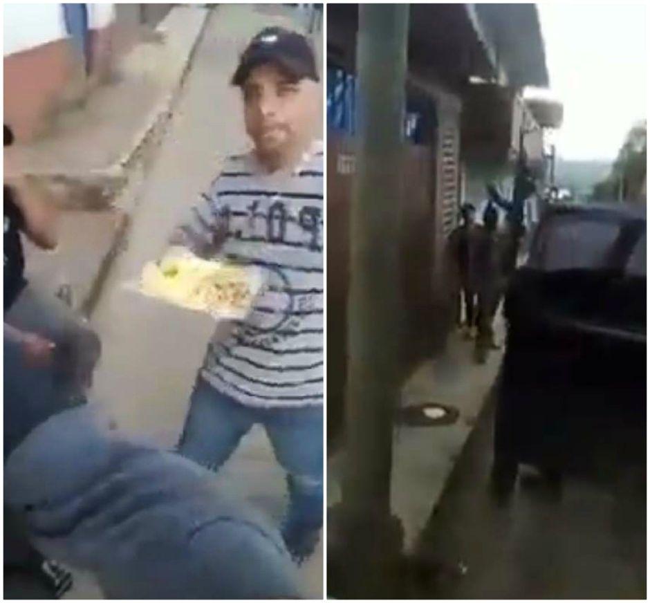 """Sicarios del CJNG de """"El Mencho"""" presumen armas mientras comen tacos en puesto callejero de Michoacán"""