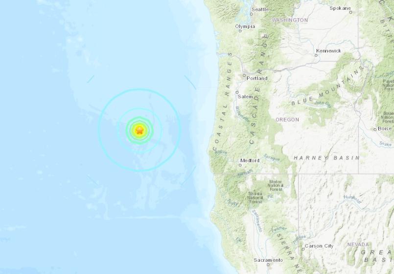 El sismo fue reportado a las 8:07 a.m. hora local.