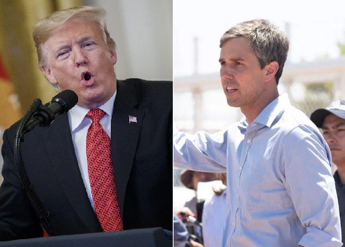 El presidente Trump critió a Beto O'Rourke.