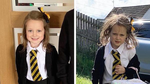 Estas fotos del antes y después del primer día de escuela será lo mejor que veas hoy