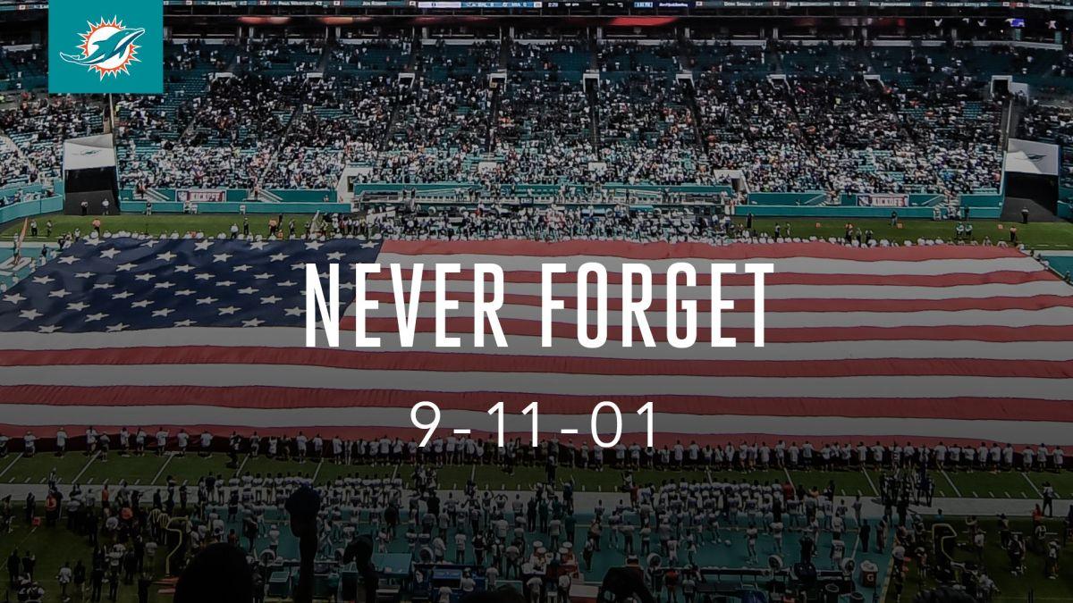 Miami Dolphins fue uno de los muchos equipos deportivos estadounidenses que manifestaron su solidaridad en esta fecha.