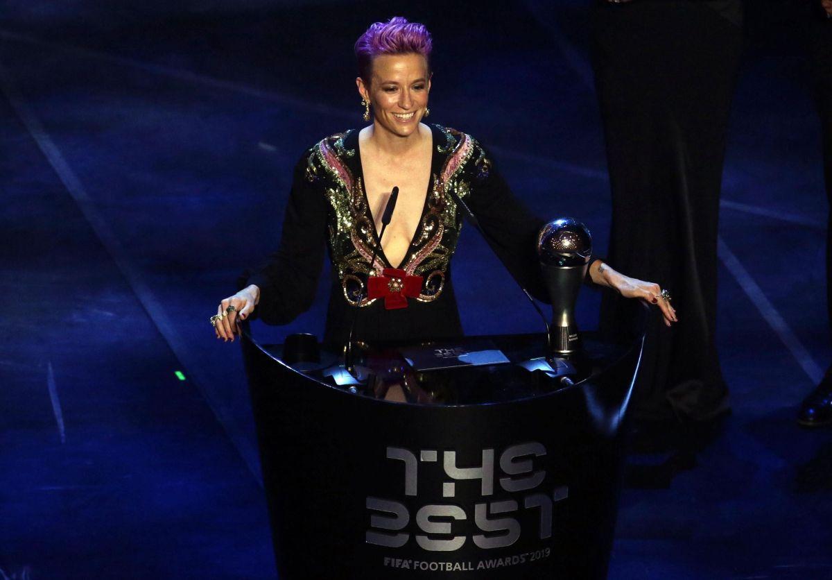 """Megan Rapinoe gana el premio """"The Best"""" de la FIFA en una noche histórica para el futbol femenil"""