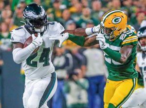 Philadelphia Eagles le pega y quita el invicto a Green Bay Packers