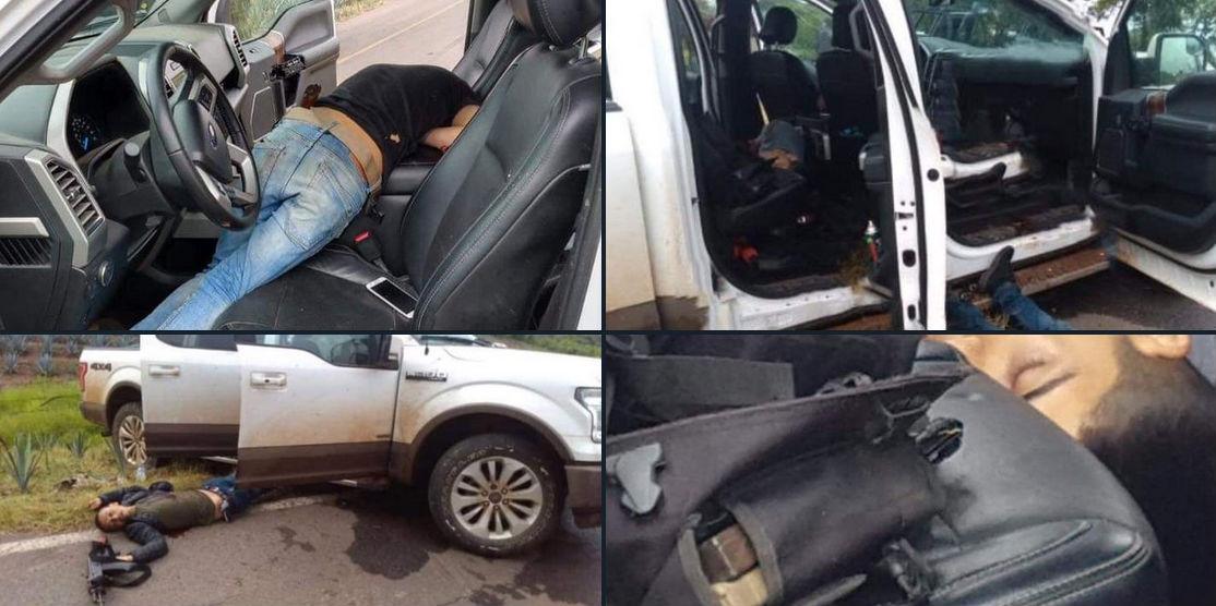 Así quedaron tres sicarios del CJNG tras atacar a balazos a policías