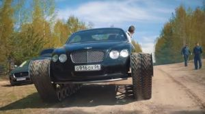 ¿Autos de lujo van a la guerra? Adaptaron este Bentley para ser un tanque (VIDEO)