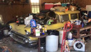 Después de 80 años de estar guardado, ponen un Chevrolet Bel Air Wagon de 1957 a la venta en Nueva York