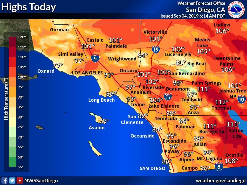 Ola de calor: La temperatura alcanzará los 93 grados F en Los Ángeles