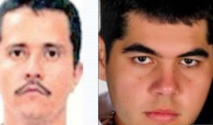"""Imagen que circula en redes de """"El Sapo""""; a la izquierda, """"El Mencho""""."""