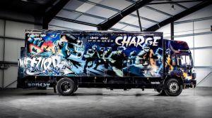 Pondrán a la venta un viejo camión de Volvo pintado por Banksy