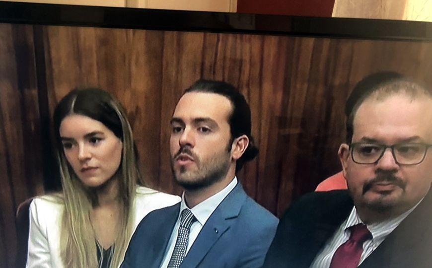 Pablo Lyle en la corte de Miami