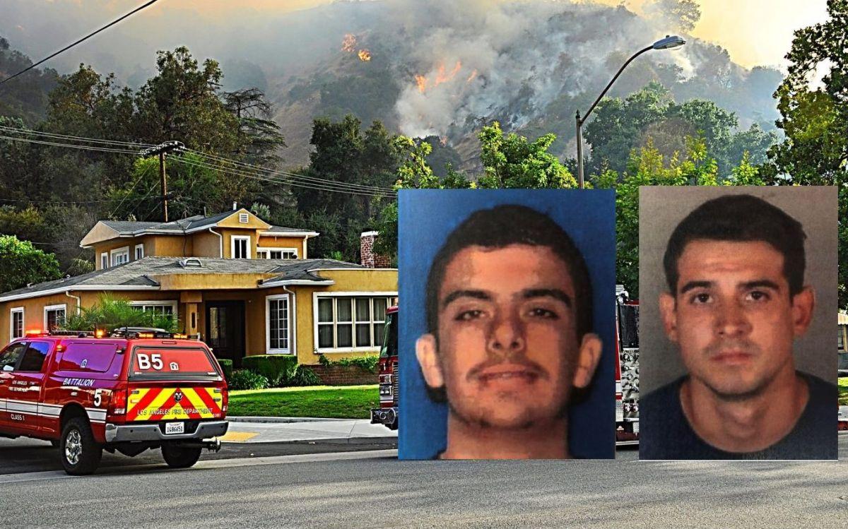Arrestan a dos hombres en conexión con el incendio de Eagle Rock que amenazó casas en Glendale