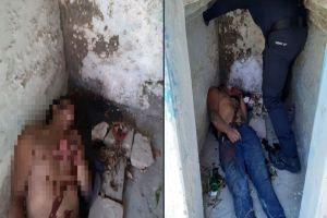 Sicarios matan a hombre en cementerio y lo dejan dentro de una tumba