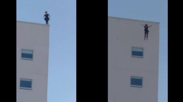 VIDEO: Mujer se suicida en Tijuana, se arrojó de la azotea de hotel