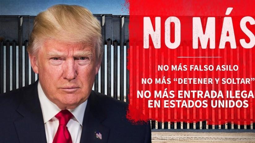 """Trump ataca a los inmigrantes hispanos antes de visitar muro fronterizo: """"No más falso asilo"""""""