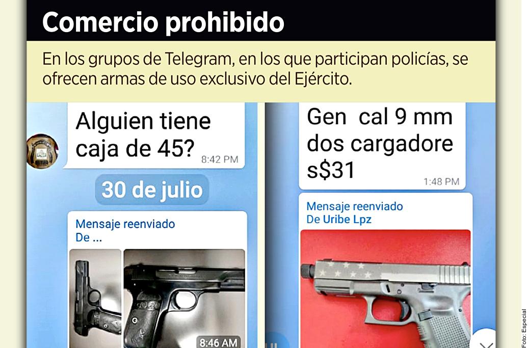 Venden policías armas ilegales en la Ciudad de México